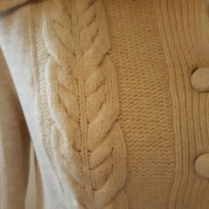 Anthropologie Sweaters - Saturday & Sunday | Cream Cable Knit Cardigan